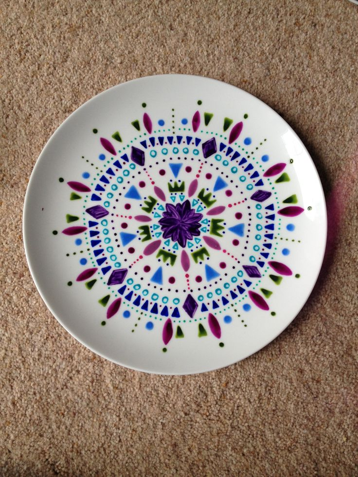 25 best hand painted plates ideas on pinterest for Pottery patterns