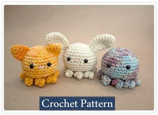 Amigurumi PATTERN Crochet Octopus Pattern door NurdiBabiCrochet
