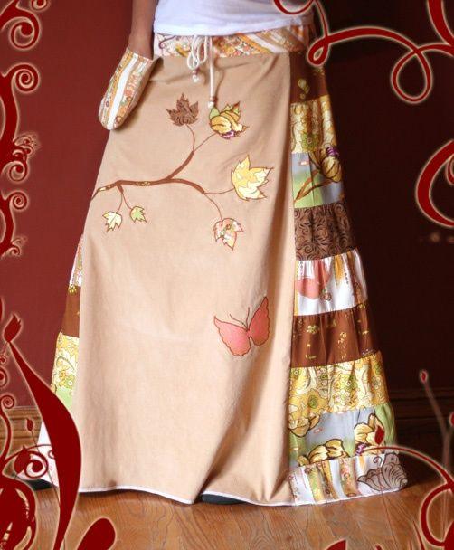 Handmade Patchwork Skirts | Custom Handmade Skirts | designer, hippie style, patchwork, original