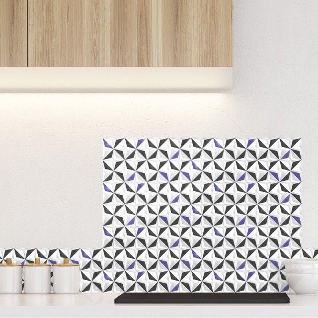 Credence De Cuisine Adhesive En Aluminium Motif Origami Ultra Violet Credence Cuisine Credence Decoration Interieure