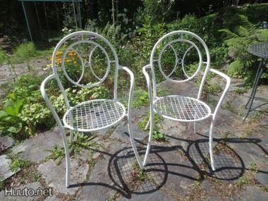 Vintage-puutarhatuolit 60-luvulta. #huutonet