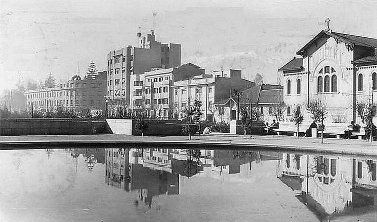 Panorámica de la Avenida Providencia de Santiago en el año 1936.