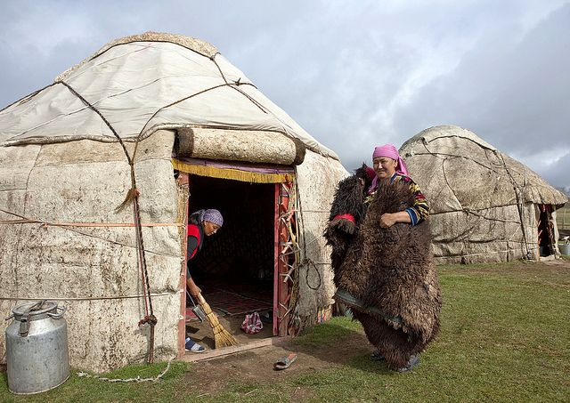 Kyrgyzstan yurts It's not just in some ancient history book - it's now