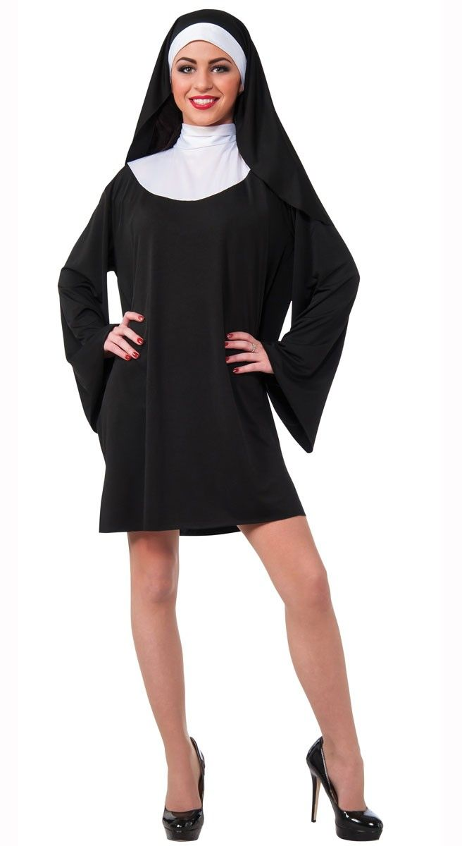 <p>Women's basic short nun fancy dress costume by Rubies. This <strong>women's nun costume</strong> is perfect to say a few Hail Mary's and dress as Maria from the Sound of Music at your next religious or movie themed costume party! See below for full description and size details.</p>