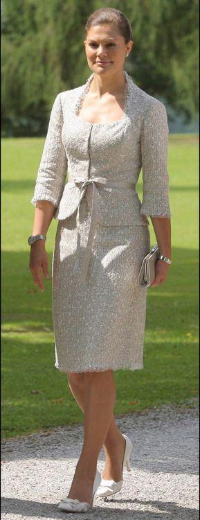 Crown Princess Victoria of Sweden. She dresses so gracefully.