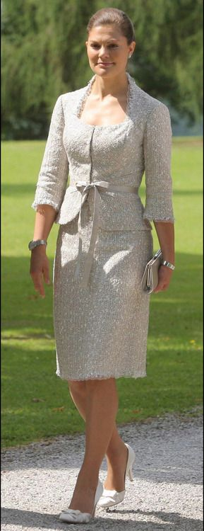 Crown Princess Victoria of Sweden. She dresses so gracefully.