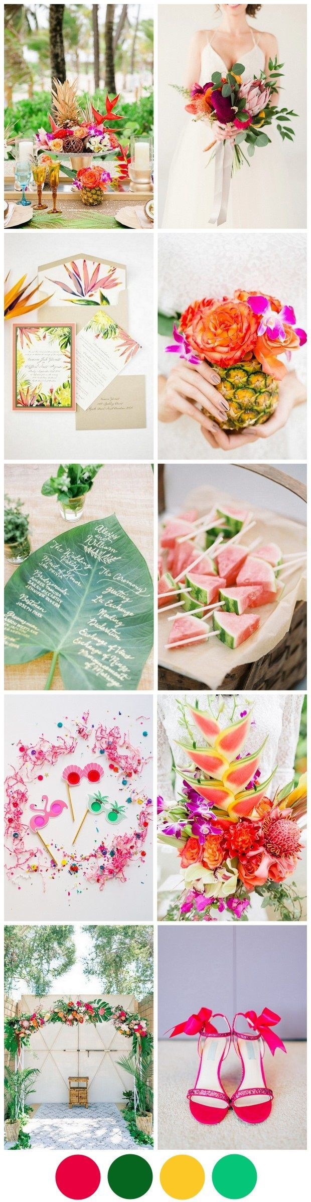 The seriously fun tropical wedding theme is a huge trend for weddings at the moment - find out how to pull it off for your Big Day next summer here!