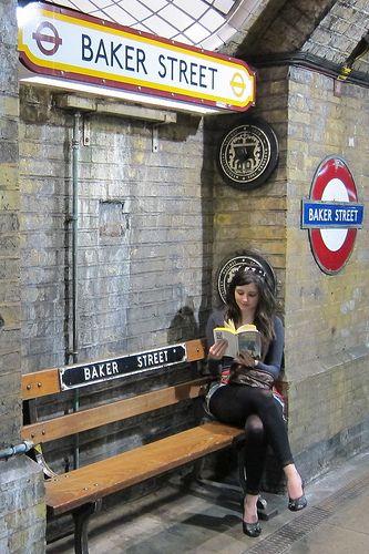 Sherlock! .... Cumberbatch?  Downey Jr.?  Miller?  Rathbone? ~  Baker St Underground ~