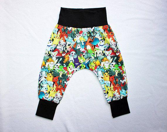 Kids Pokemon Harem Pants Toddler Boy Pokemon Harem Pants Baby Boy Pokemon Outfit Baby pikachu Pokemon Go pants Kids Boys Pokemon costume