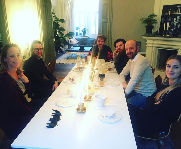 Jocke Berg at Carl Falk's breakfast
