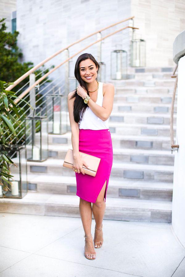 Miami Nights - Elizabeth and James skirt // Alexander Wang tank Stuart Weitzman heels // YSL clutch Jill Golden collar c/o // Michael Kors watch Monday, February 9, 2015