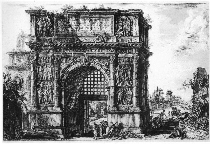 Arco di Traiano a Benevento, incisione
