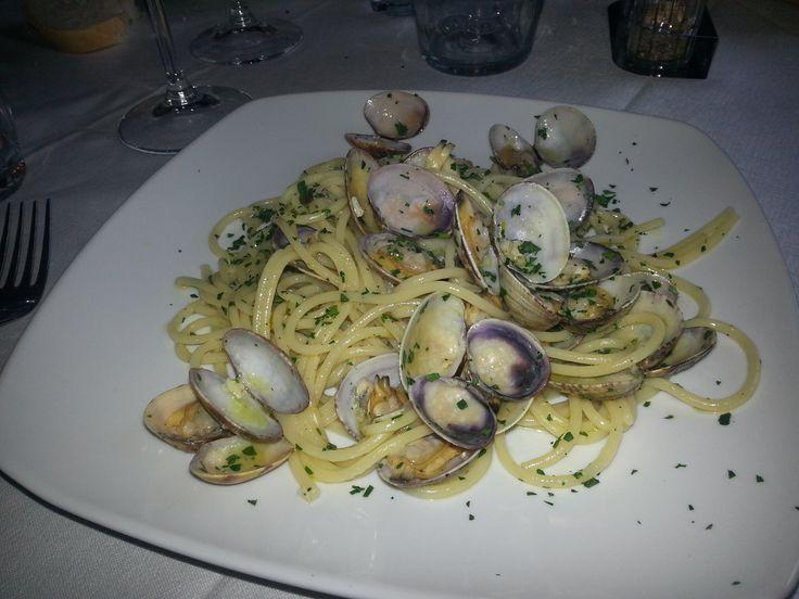 Spaghetti alla Vongole, Borgio #Verezzi, Antica Osteria Saracena del Bergallo