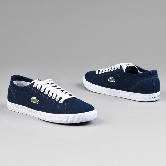 Кроссовки Lacoste Marcel MB SPM Dark Blue/White Canvas