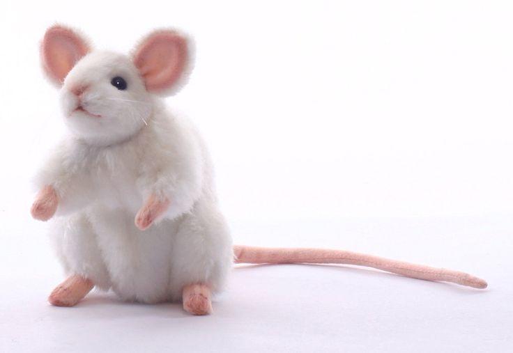 Hansa white german mouse plush animal toy 6 for Amazon com pillow pets