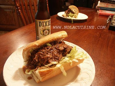 Roast Beef Po' Boy with Debris Gravy/nolacuisine.com - Website contains other great New Orleans recipes as well.