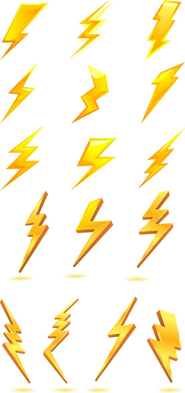 Golden lightning bolt icon