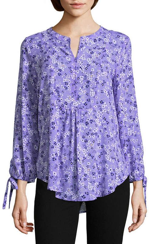 75d95b0063cf2f Liz Claiborne 3/4 Sleeve Peasant Top-Tall   Products   Peasant tops ...
