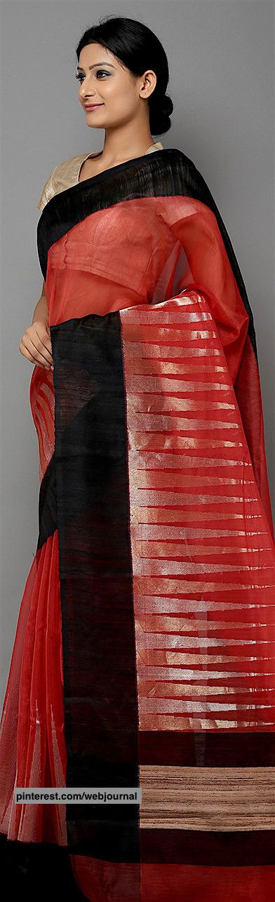 Handwoven Banarasi cotton silk saree from theloom.in