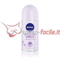 NIVEA DEODORANTE DOUBLE EFFECT ROLL-ON 50ML Puoi depilarti perfettamente ed avere ascelle lisce più a lungo. La tua pelle risulta liscia e morbida. Il deodorante NIVEA Roll On DOUBLE EFFECT è efficace tutto il giorno e rende la pelle più liscia più a lungo.  Grazie alla sua formula innovativa facilita una depilazione più accurata prolungandone l'effetto.  E' la combinazione ottimale di massima efficacia e delicatezza NIVEA. http://www.spesa-facile.it/prodotti/deodoranti