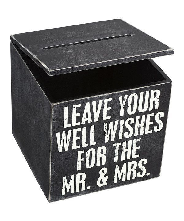 MR AND MRS WEDDING WISHES CARD BOX