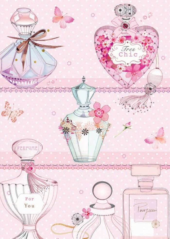 Illustrations : Pretty perfume bottles
