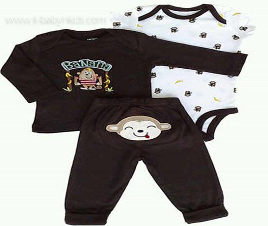 Brand    : Carter Material : 100% Cotton Satu set terdiri dari baju tangan panjang + jumper tangan pendek + celana  Size : 3M, 6M, 9M, 12M, 18M  Harga Rp 90.000,-  Order via web atau sms,BB ya. Grosir Perlengkapan Bayi dan Anak Terbaik di Jakarta Web :www.k-babynkids.com SMS : 08170759660 BB : 281341B0