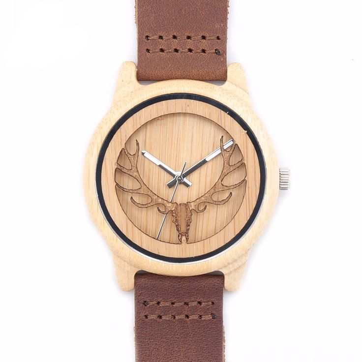 An organic bamboo wooden case with black ring accent highlight the wooden dial and buck head emblem. It has a genuine leather adjustable strap and is pleasant to wear. If you're looking for a mother'sday present that's more creative than your average parfume, you've found it. Dial Window Material Type: Hardlex Water Resistance Depth: No …