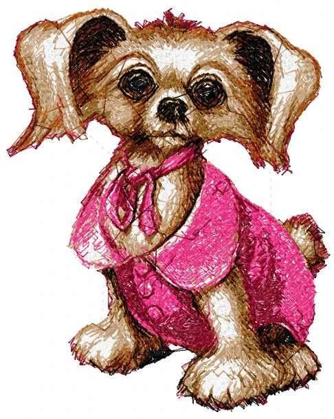 Cute small dog photo stitch free embroidery design - Photo stitch embroidery - Machine embroidery forum