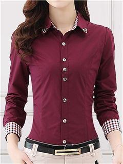 estilo ol ericdress blusa solapa