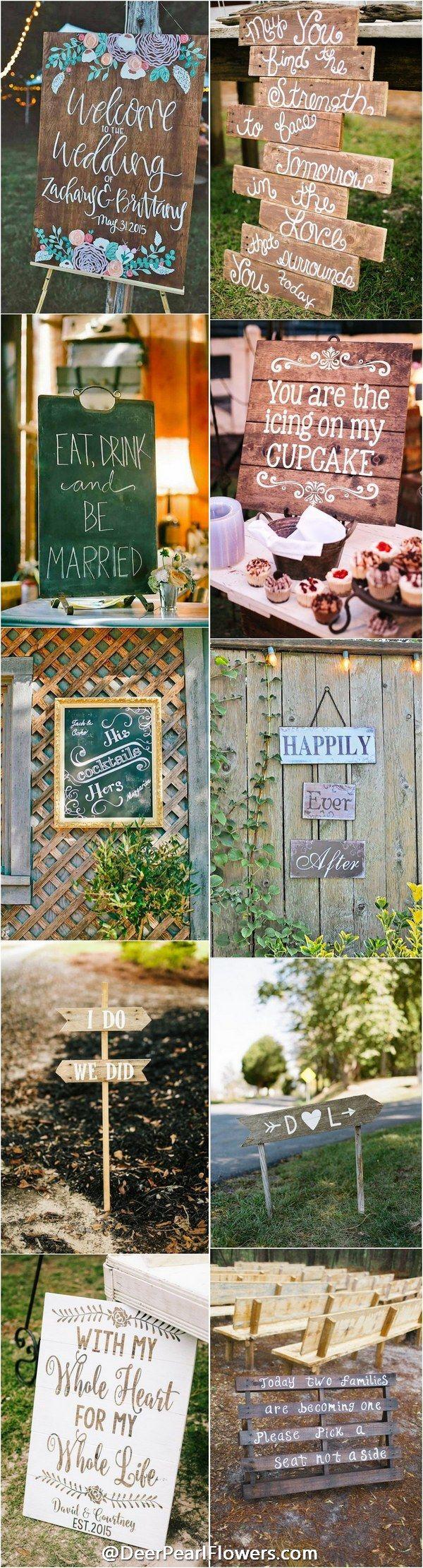 30 Rustic Wedding Signs U0026 Ideas For Weddings