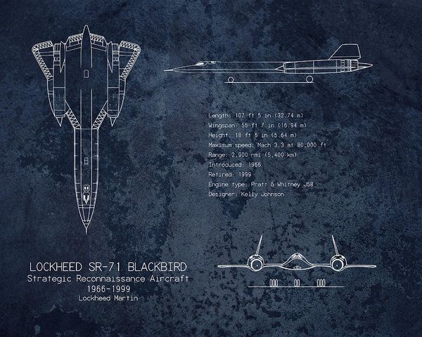 94 best blueprints images on pinterest blueprint art art print airplane blueprint print featuring the digital art sr 71 blackbird aircraft blueprint art print by malvernweather Gallery