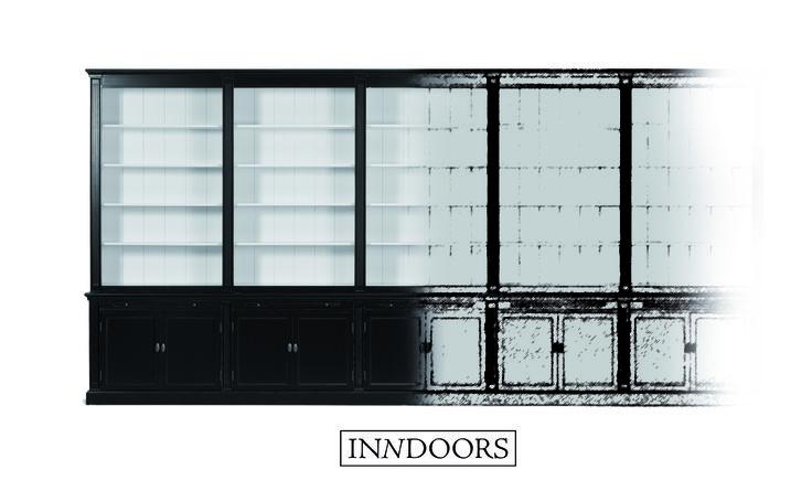 Maatwerk landelijke boekenkast - Inndoors Meubelen en Interieur