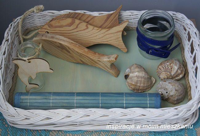 inspiracje w moim mieszkaniu: Morskie akcenty w salonie