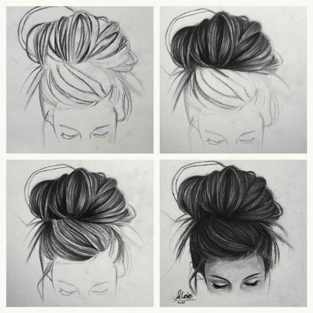 Cabelo de garota Tumblr☺ Insta: {@Desenhando._ Arts} (ideias para.draws