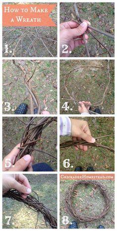 How to Make a Grapevine Wreath - Chickadee Homestead