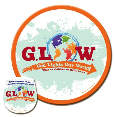 G.L.O.W. Flying Disc In Pouch