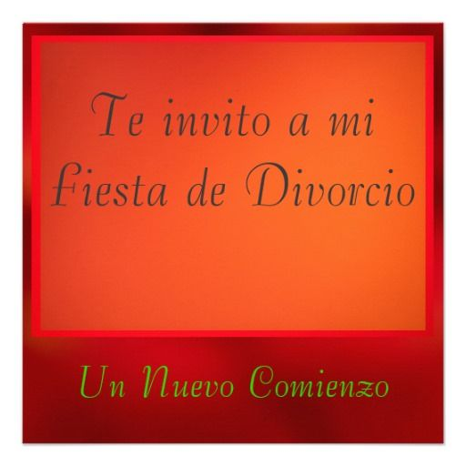 Invitación - Fiesta de Divorcio Announcement  http://www.zazzle.com/invitacion_fiesta_de_divorcio_announcement-161733235795995005