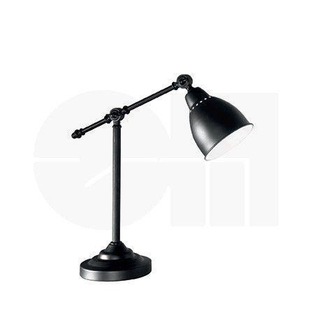 Φωτιστικό γραφείου μεταλλικό σε μαύρο ή χρώμιο NEWTON της ιταλικής Ideal Lux