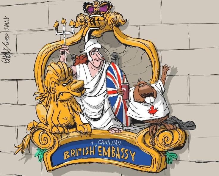 Brian Gable satirizes the UK-Canada embassy sharing partnership (25 Sept. 2012) | #foreignaffairs