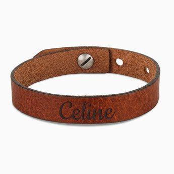 Leren armband dames - bruin