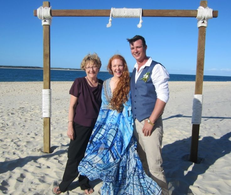 Natalie and Kahl exchanged marriage vows on the stunning beach at Inskip Point.