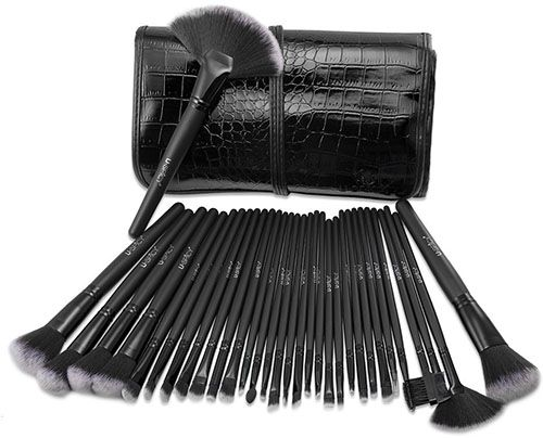 5. 32 Pieces Cosmetics Brushes Kit