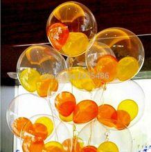 Envío gratis! 2015 globo transparente ( 100 unids/lote ) 12 pulgadas transparente ball voladura globo de látex claro transparente(China (Mainland))