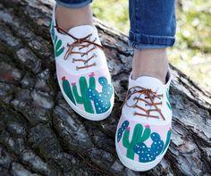 Cactus Tennis Shoes  | iLoveToCreate