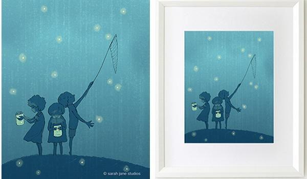 Las ilustraciones de Sarah Jane para la habitación del bebé