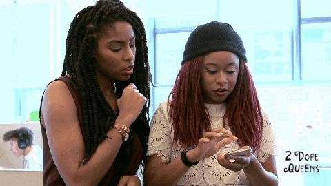 New trendy GIF/ Giphy. jessica williams 2 dope queens phoebe robinson fog horn fog horn actionnn. Let like/ repin/ follow @cutephonecases