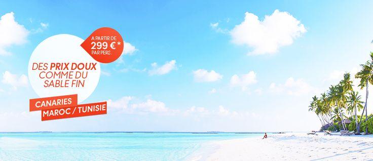Thomas Cook promo voyage pas cher, réservez avec Thomas Cook votre séjour pas cher aux Canaries, Tunisie et Maroc à partir de 299.00 € TTC