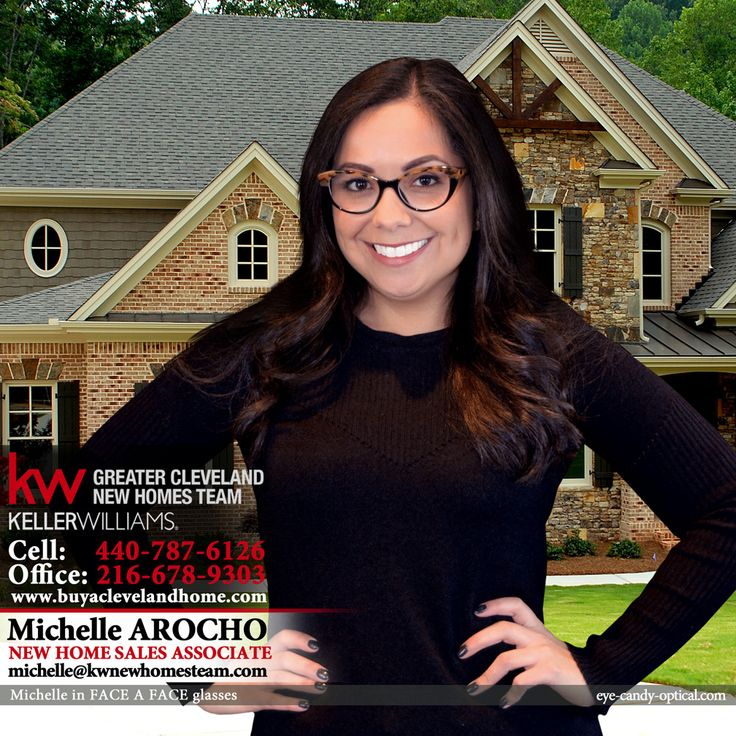 Michelle is a Keller Williams New Home Sales Star in her new designer glasses by Face a Face. She will show you a new home of your dreams with professionalism and great style!  Eye Candy – The OPEN HOUSE of the finest European Eyewear Fashion! Eye Candy Optical Cleveland – The Best Glasses Store!  (440) 250-9191 - Book an Eye Exam Online or Over the Phone  www.eye-candy-optical.com and www.kwnewhomesteam.com