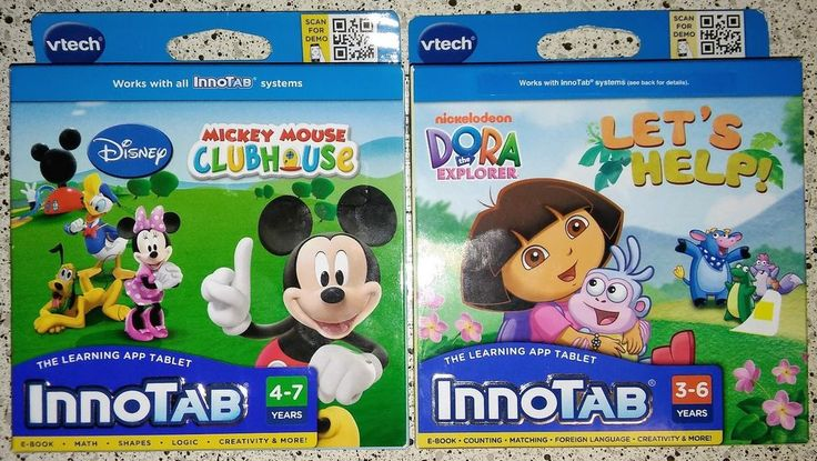 VTech InnoTab Software Disney Mickey Mouse Clubhouse Dora The Explorer Nickjr #VTech